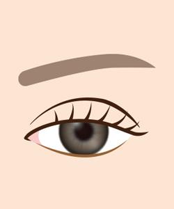 目の下のくぼみイメージ